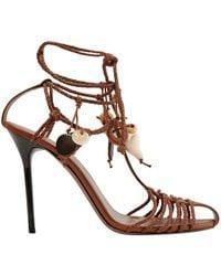 Altuzarra Tullio Braided Leather Ankle-wrap Sandals - Brown