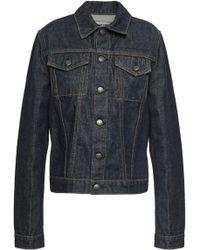 Helmut Lang Coated Denim Jacket Dark Denim - Blue