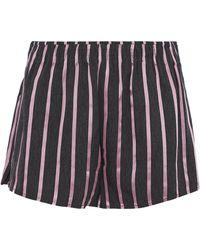 Alexander Wang - Striped Satin And Chambray Shorts - Lyst