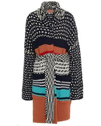 Missoni Ribbed Wool-jacquard Coat - Black
