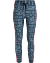 The Upside - Cropped Stretch-jacquard Leggings Storm Blue - Lyst