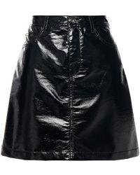 Vivetta Textured-vinyl Mini Skirt - Black