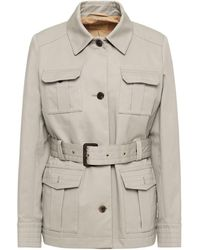 James Purdey & Sons Belted Cotton-gabardine Field Jacket - Multicolour