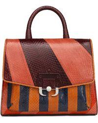 Paula Cademartori - Color-block Python Shoulder Bag - Lyst