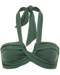 Seafolly Ruched Halterneck Bikini Top - Green