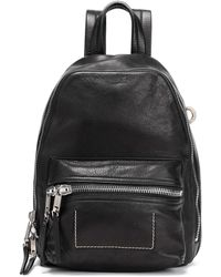 Rick Owens Textured-leather Backpack Black