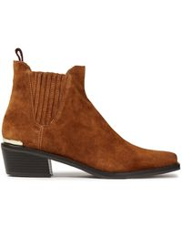 DKNY Michelle Suede Ankle Boots Light Brown