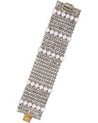 Elizabeth Cole Colette 24-karat Gold-plated, Faux Pearl And Crystal Bracelet White