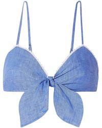 Miguelina Bikini-oberteile - Blau