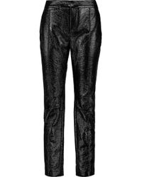 Marc By Marc Jacobs - Glossed Faux Textured-leather Slim-leg Trousers - Lyst