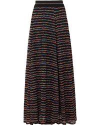 Missoni Striped Crochet-knit Maxi Skirt - Black
