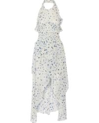 IRO - Jessy Ruffled Printed Chiffon Halterneck Dress - Lyst