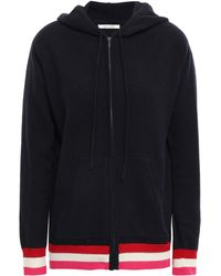 Chinti & Parker Wool And Cashmere-blend Hooded Cardigan Navy - Blue