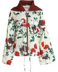 Ganni - Greenwood Floral-print Shell Jacket - Lyst