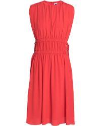 M Missoni - Shirred Crepe De Chine Dress - Lyst