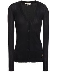 Emilio Pucci Ribbed-knit Cardigan - Black