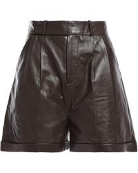 Equipment Leather Shorts Chocolate - Brown