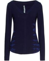 Raquel Allegra Tie-dyed Bamboo-blend Jersey Top - Blue