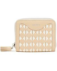 Serapian Tasselled Mosaico Leather Wallet - Natural