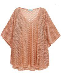 Melissa Odabash Madison Metallic Crochet-knit Coverup Neutral - Multicolor
