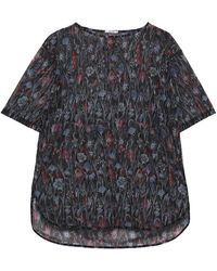Wolford Wildflower Floral-print Stretch-tulle T-shirt Black