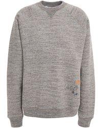 Victoria Beckham Embroidered Mélange Cotton-fleece Sweatshirt - Grey
