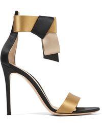 Gianvito Rossi - Geisha Bow-embellished Satin Sandals - Lyst