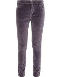 DL1961 Cotton-blend Velvet Skinny Trousers Dark Grey