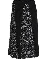 M Missoni - Paneled Knitted Skirt - Lyst