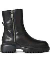 McQ Leather Ankle Boots Black