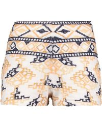Antik Batik Embroidered Cotton-blend Shorts - White