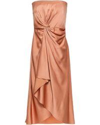 A.L.C. - Woman Strapless Draped Satin-crepe Dress Antique Rose - Lyst