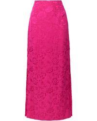 STAUD Saman Floral-jacquard Maxi Skirt - Multicolour