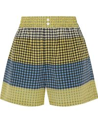 Opening Ceremony - Gathered Printed Silk Crepe De Chine Shorts - Lyst