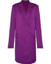 Helmut Lang Wool-twill Coat Violet - Purple