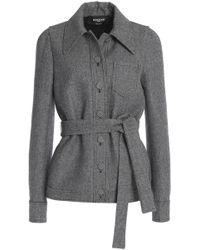 Rochas - Belted Houndstooth Wool-blend Blazer - Lyst