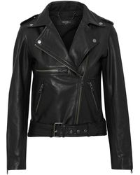 Muubaa Willow Leather Biker Jacket - Black