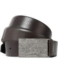 Brunello Cucinelli - Textured-leather Belt - Lyst