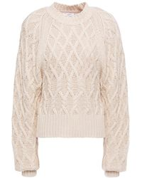 Equipment Cable-knit Cotton Sweater - Natural