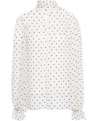 Zimmermann - Bluse Aus Seiden-georgette Mit Eingewebten Punkten Größe 1 - Lyst