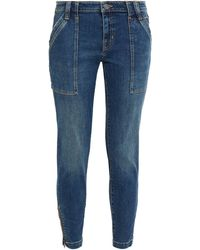Joie Park Cropped Faded Mid-rise Skinny Jeans - Blue