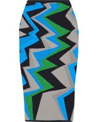 M Missoni - Metallic Jacquard-knit Cotton-blend Pencil Skirt - Lyst