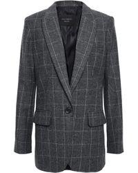 Equipment James Checked Wool-blend Twill Blazer Dark Gray