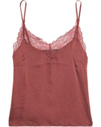 Love Stories - Lace-trimmed Stain Top - Lyst