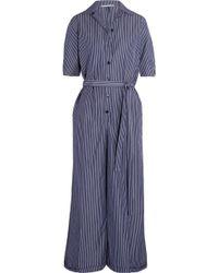 Stella McCartney | Striped Cotton Jumpsuit | Lyst