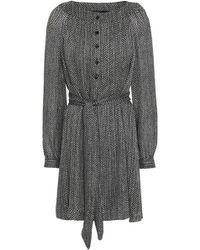 Vanessa Seward - Printed Silk-georgette Mini Dress - Lyst
