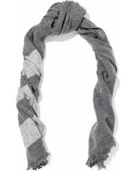 Duffy Striped Wool And Cashmere-blend Scarf - Gray
