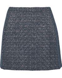 Versus - Metallic Cotton-blend Jacquard Mini Skirt - Lyst