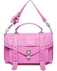 Proenza Schouler Medium Leather Shoulder Bag Bubblegum - Pink