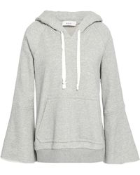 A.L.C. - Printed Mélange French Cotton-terry Hoodie - Lyst